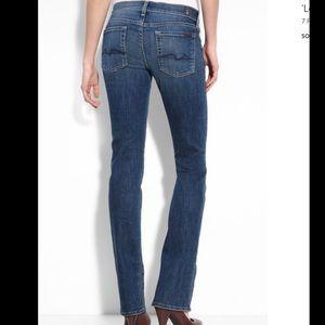 """7FAM """"Lexie Straight Leg"""" Size 31 Petite"""